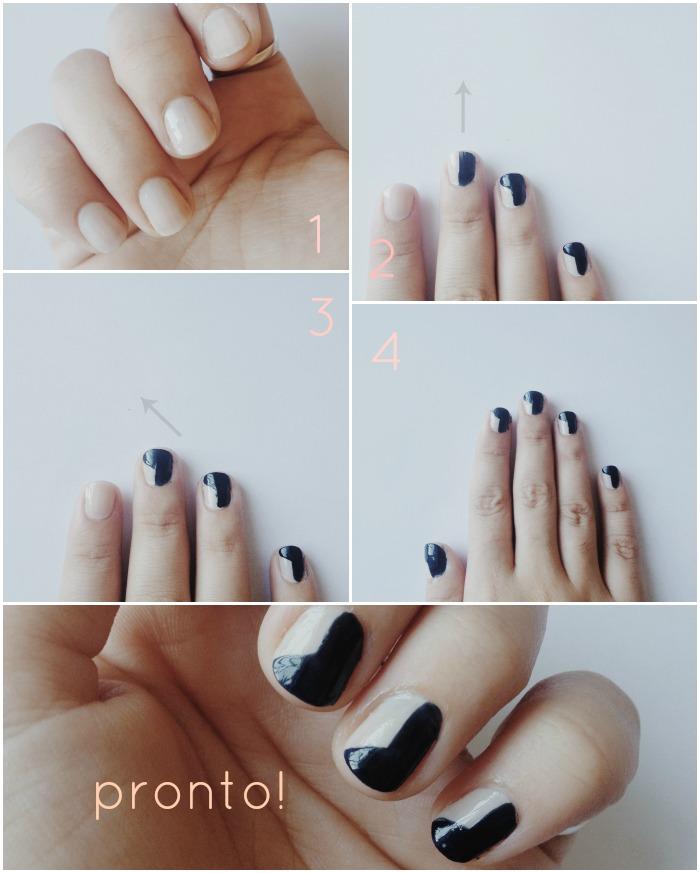 Gosto de Canela - DIY Geometric Nail Art