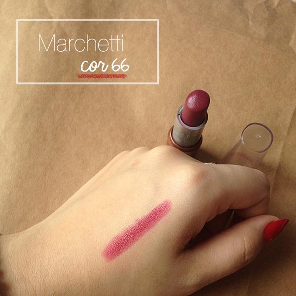 Gosto de Canela - batons vinho favoritos e baratos - Marchetti cor 66