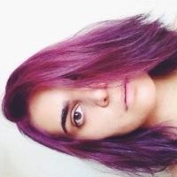 Como eu pintei meu cabelo de roxo